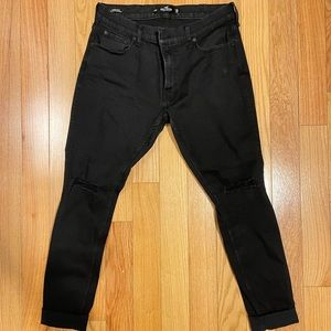 Hollister ripped knees skinny jeans